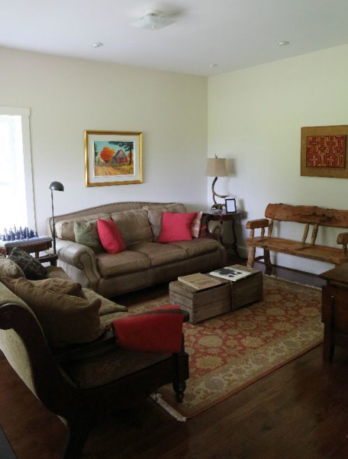 Den with HD TV; house has unlimited high speed wireless internet