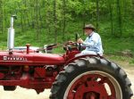 Farmer Dan with Emil's tractor