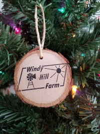 WHF Wood Bark Ornament