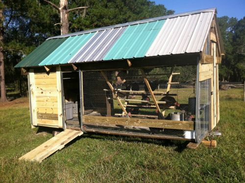 Small pasture shelter for hens