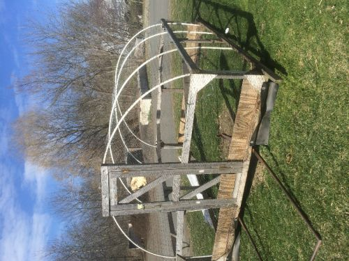 shell of a hoop house