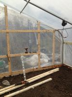 Finishing up new hoophouse endwalls
