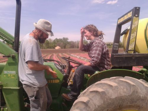 Phil Cordelli, Head Grower, taught everyone tractor skills!