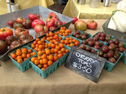 market photo cherry toms