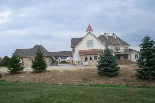 new construction in before lawn planting,Sylvania