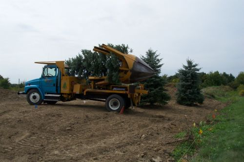 "65"" spade capable of moving 6.5"" dia. trees"