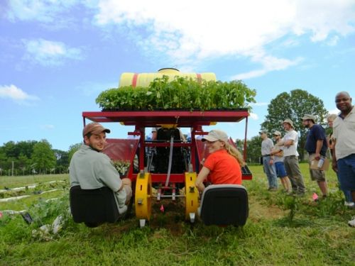 Nolts water wheel transplanter
