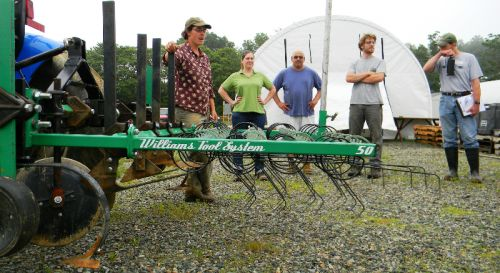 Students also got a chance to see the Williams Tool System, a handy tractor-mounted weed management implement that includes adjustable tine weeders, cultivators, weed knife sweeps, and potato hilling disks.