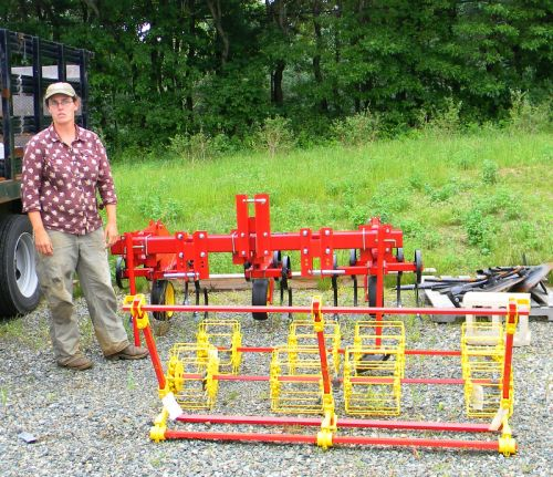 The basket weeder and I&J's low-residue cultivator are other important tools in an organic management system.