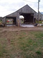 Corn crib and shed - soon to be the walk in cooler and packing shed.