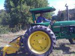 Day one on the farm with the new tractor and mower - discovering lots of surprises in the 5' weeds!
