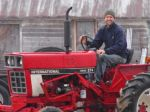 New cultivating tractor - sweet!
