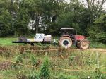 Our harvest wagon making another trip back to the barn for the produce to be washed
