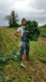 Matt with some red russian kale