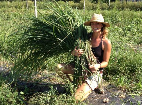 Julie with some lemongrass