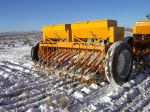 Ken Spackman seeding in Park Valley, Utah