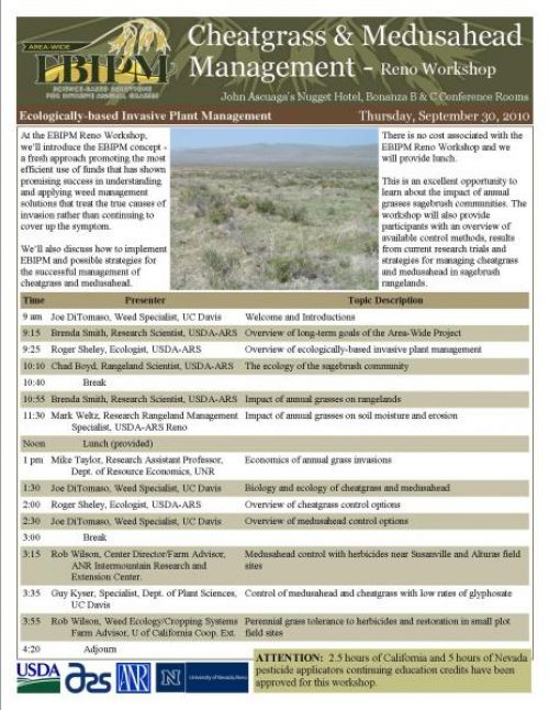 EBIPM Cheatgrass & Medusahead Management workshop