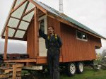 Our fully insulated, wood stove heated tiny home provides cozy housing.
