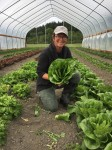 Farmer Melanie loves her romaine.