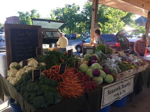 Early summer at the farmers market 2014