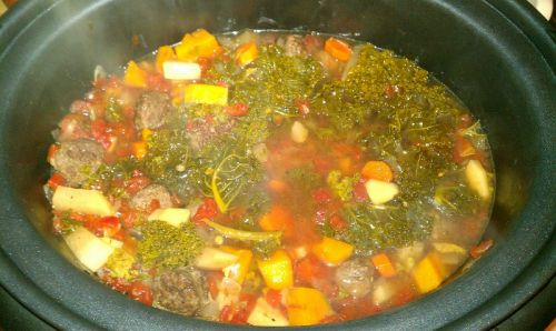 Beef Sausage and Kale Soup