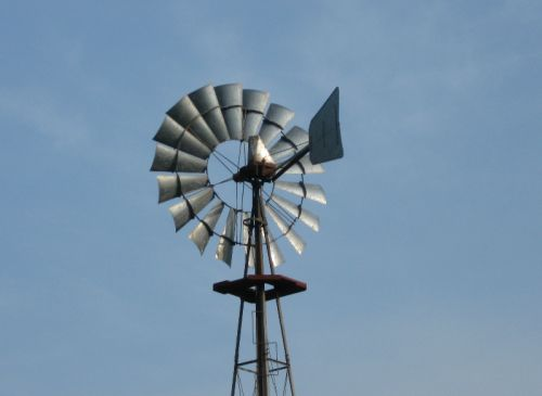 Our windmill pumps water when needed