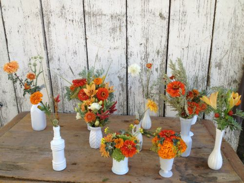 The table bouquets