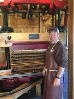 Pressing Raw Apple Cider on our Antique Boomer Boschert Press