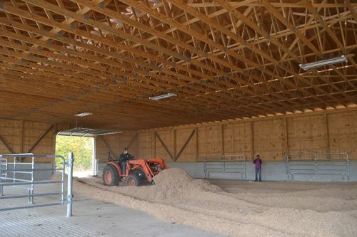 each fall we fill the barn with fresh shavings