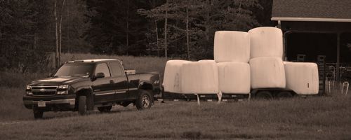 One tough Chevy,12,000 pounds of hay