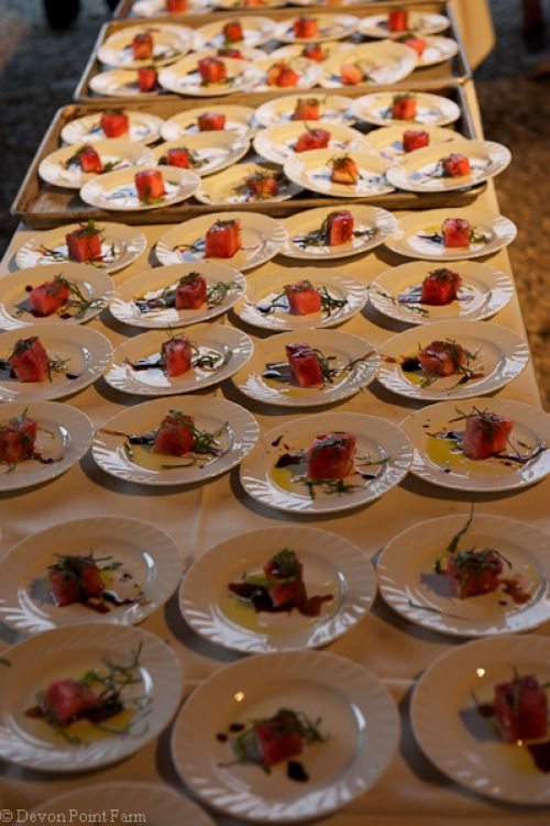 Farm Dinner 2012,all plated