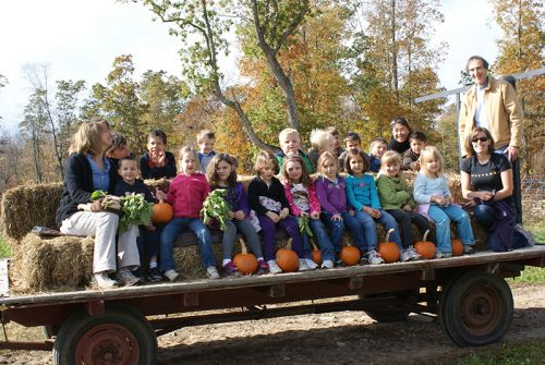 Hayrides at Pumpkin Patch