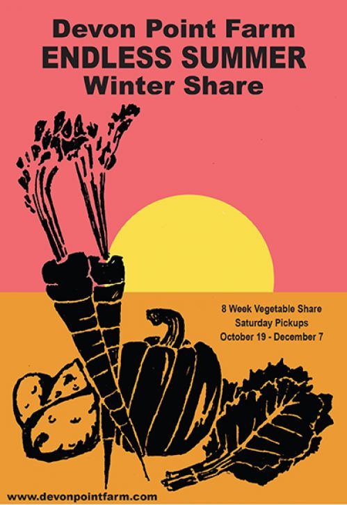 Winter CSA shares now on sale at Devon Point Farm in Woodstock Connecticut