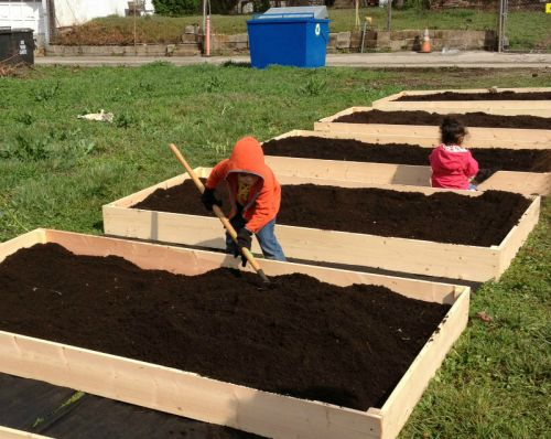 The kids get into farming the new city location.