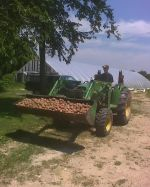 Travis on the John Deer