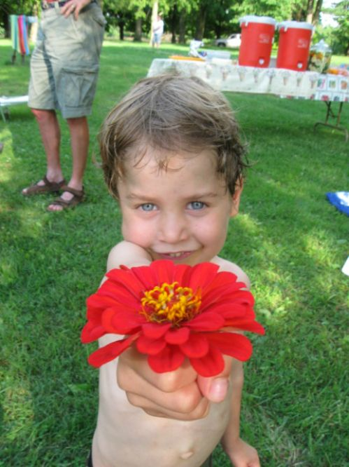 A flower for Mommy