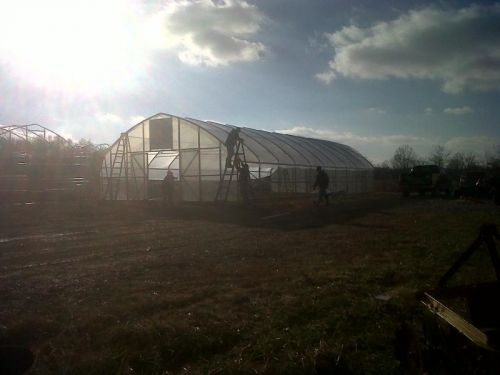 Greenhouses under construction Fall 2010