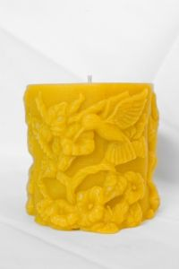 Hummingbird Beeswax Candle