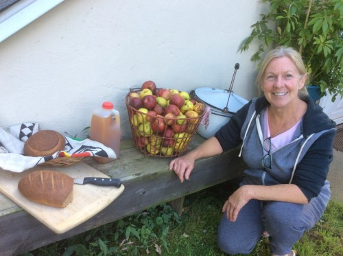 Apples, cider, and bread