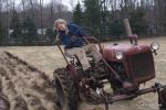 Christy plowing the trial field