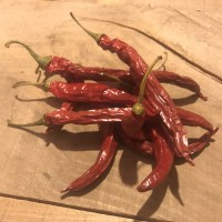 Produce: Dried Cayenne Peppers