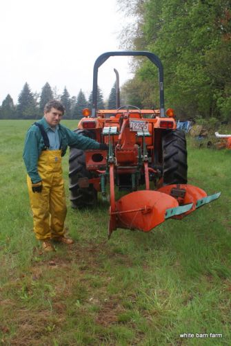 Eliot with the borrowed two bottom plow