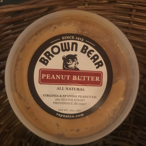 Provisions: Brown Bear Peanut butter, smooth