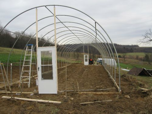 building new greenhouse winter 2011