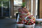 Delicious pre picked strawberries ready to sell