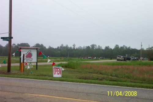 Our sign at road on Lowcountry Hwy
