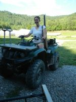 Emily loves the ATV!