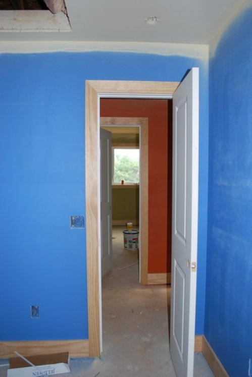 upstair with primer paint and trim