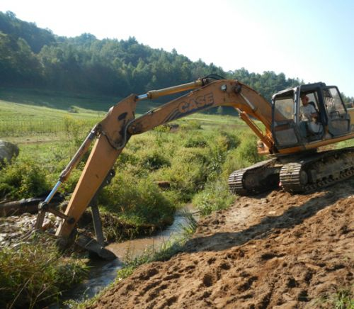 Our creek bank restoration project