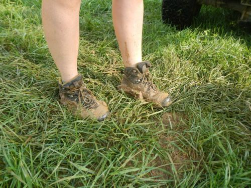Lizzy's muddy boots